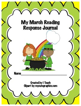 Common Core March Reading Response Journal