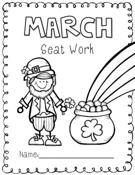 2nd Grade Common Core: March Morning Seat Work Packet