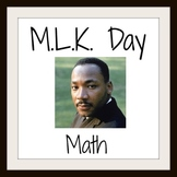 Common Core - Martin Luther King Day - MLK Day Math