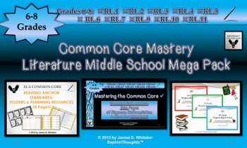 Common Core Mastery Middle School Literature Mega Pack