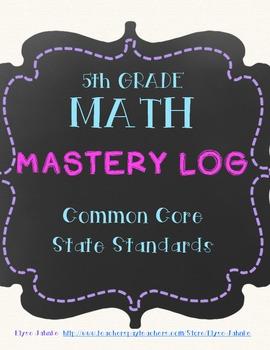 Common Core Mastery Log - 5th Grade Math