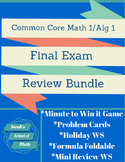 Common Core Math 1/Algebra 1 Final Exam Review Bundle (5 p
