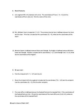 Common Core Math 1 Geometry Unit Bundle (Midpoint/Distance)