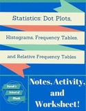 Common.Core.Math.1:Statistics Notes,Activity, WS: Graphs, Tables, Relative Freq.