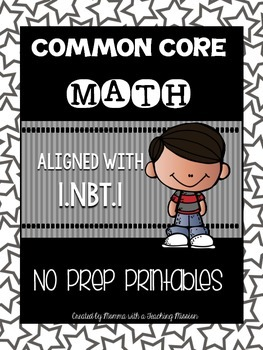 Common Core Math 1.NBT.1 No Prep Printables