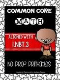 Common Core Math 1.NBT.3 No Prep Printables