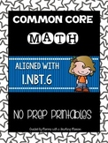 Common Core Math 1.NBT.6 No Prep Printables