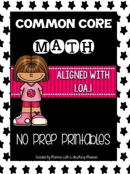 Common Core Math 1.OA.1 No Prep Printables