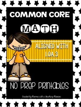 Common Core Math 1.OA.3 No Prep Printables