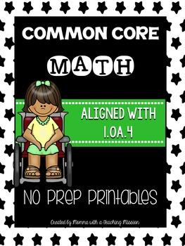 Common Core Math 1.OA.4 No Prep Printables