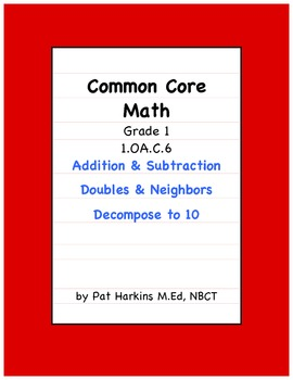 Common  Core Math 1.OA.C.6 Addition and Subtraction