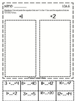 Common Core Math 1.OA.6 No Prep Printables