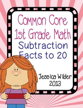 Common Core Math - 1st Grade - Subtraction to 20 (Part 6)