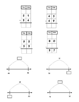 Common Core Math 2.NBT.5 : Add, Subtract within 100 Using Strategies