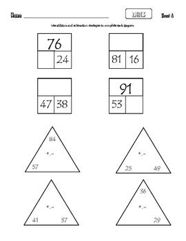 Common Core Math 2.NBT.5 : Add, Subtract within 100 Using