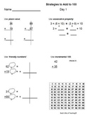 Common Core Math 2.NBT.5 Addition to 100