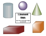 Common Core Math 3-D Shapes Poster