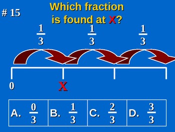 Common Core Math 3rd Grade 3 NF.2 Understand a Fraction as a Number Practice