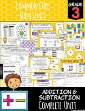 Common Core Math: 3rd Grade Addition & Subtraction Complete Set
