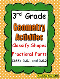 3rd Grade Math Geometry Activities with I Have - Who Has Game