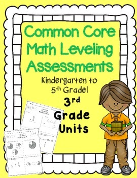 RTI Math 3rd Grade {Intervention Leveling Assessments Common Core Aligned}