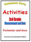 Common Core Math 3rd Grade Measurement (3.MD.8) Activities Perimeter and Area