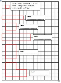 3rd Grade Math - Measurement (MD) Activities - Concepts of Area