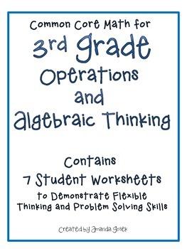 Common Core Math 3rd Grade Operations and Algebraic Thinking