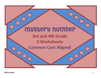 Common Core Math - 3rd and 4th Grade - Mystery Number Clues