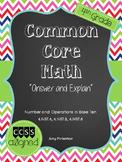 "Common Core Math (4.NBT.4-6) Worksheet Assessment ""Answer"