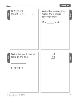 Common Core Math 4 Today Grade 1 SALE 20% OFF! 104590