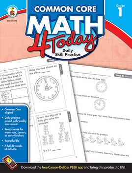Common Core Math 4 Today Grade 1 SALE 20% OFF! 104590