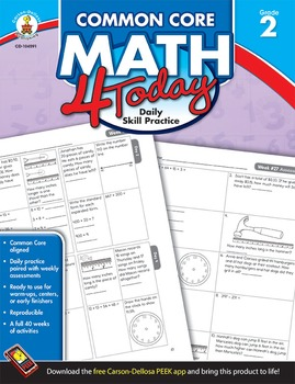 Common Core Math 4 Today Grade 2 SALE 20% OFF! 104591