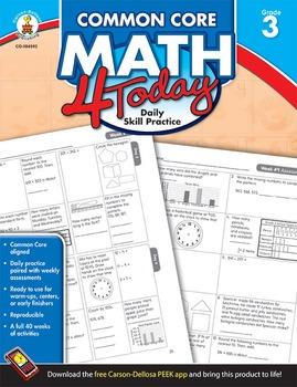 Common Core Math 4 Today Grade 3 SALE 20% OFF! 104592