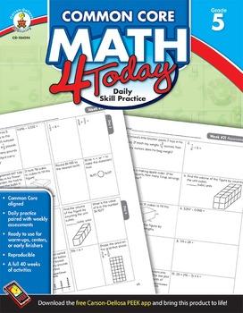 Common Core Math 4 Today Grade 5 SALE 20% OFF! 104594