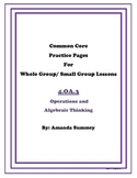 Common Core Math 4.OA.3 Practice Pages