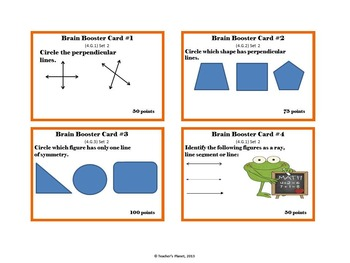 4th Grade Math Game/Task Cards - Geometry Set 2