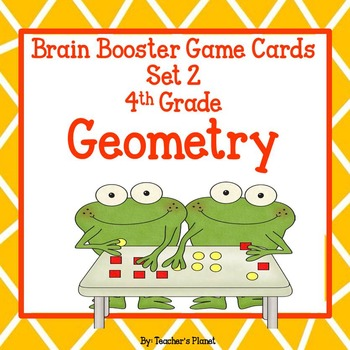 4th Grade Math Brain Booster Game/Task Cards Geometry Set 2