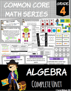 Common Core Math: 4th Grade Algebra Complete Set