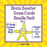 4th Grade Math Test Prep/ Game/ Task Cards Bundle  Set 1