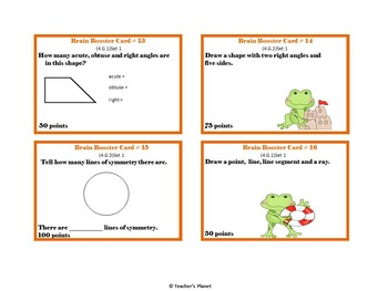 4th Grade Game/Task Cards - Geometry Set 1
