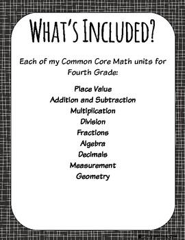 Common Core Math: 4th Grade Complete Set - Entire YEAR!