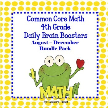 Math Spiral 4th Gd Daily Brain Boosters August – Dec. Bundle Pack