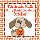 Daily Math 4th Grade Brain Boosters October