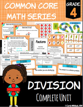 Common Core Math: 4th Grade Division Complete Set