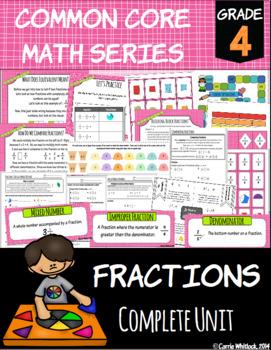 Common Core Math: 4th Grade Fractions Complete Set