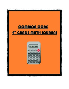 Common Core Math 4th Grade Year Long Journal (With Student