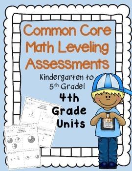 RTI Math 4th grade {Intervention Leveling Assessments Common Core Aligned}