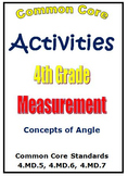 Common Core Math 4th Grade Measurement Activities - Angles (4.MD.5,6,7)