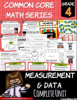 Common Core Math: 4th Grade Measurement & Data Complete Set